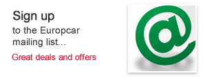 Sign up to the Europcar mailing list. Great deals and offers