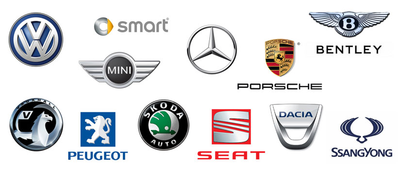 Series of car brand logos