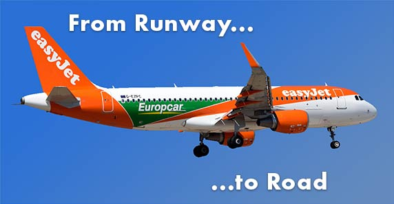 Image of Easyjet Plane with Europcar branding